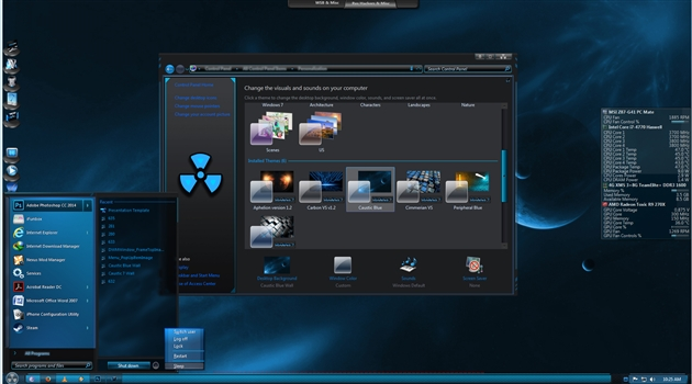 Caustic Blue for Windows 7