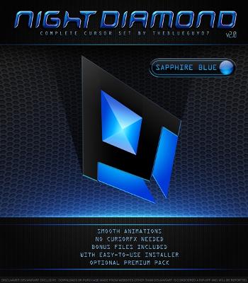カーソルデザイン Night Diamond Sapphire Blue