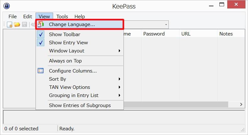 KeePassを日本語化する02