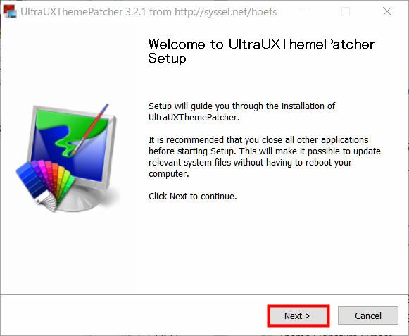 UXThemePatcherをインストール01