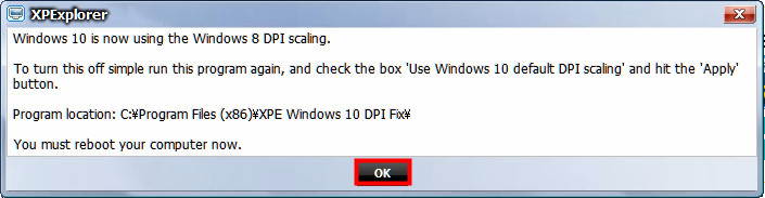XPExplererの設定を適応する 02