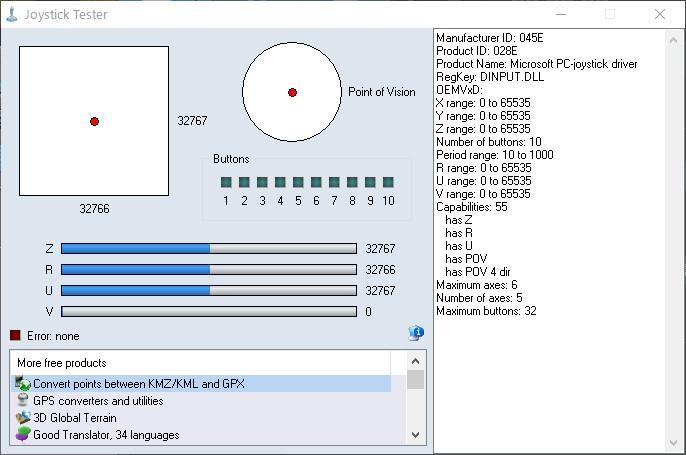 GPD WIN Sampling instructionsでDirectinputの動作をチェックする